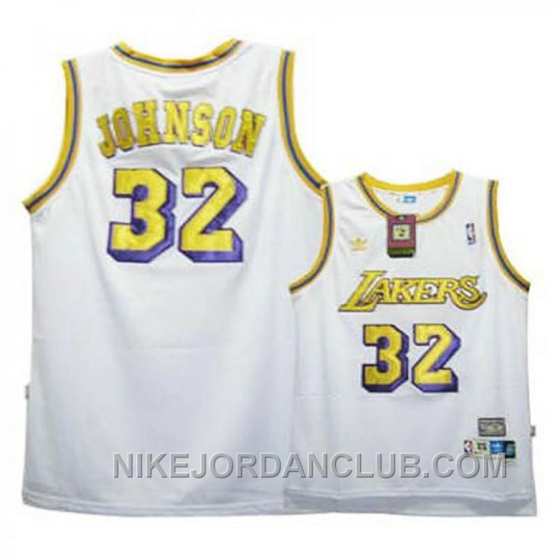 Magic Johnson Youth Los Angeles Lakers #32 White Jersey Discount